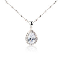 Diamond Pendant Isolated On Wh...
