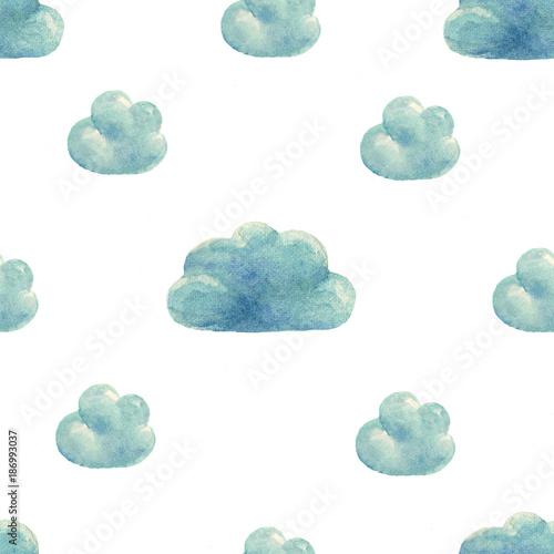wzor-w-chmury-akwarela