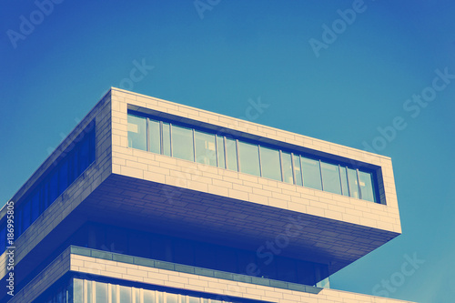 Germany, Hamburg, upper part of modern building at Hafencity