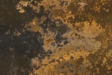 Dark Golden And Brown Grunge T...