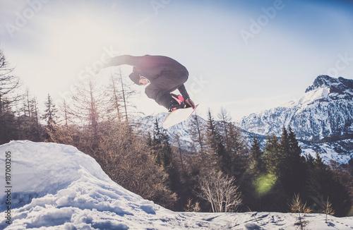 Fotografie, Obraz  Snowboarder