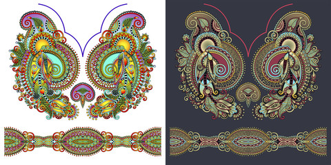 necklace embroidery print for fashion design