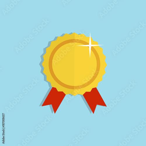 Fotografía  Gold reward winner icon. Vector illustration