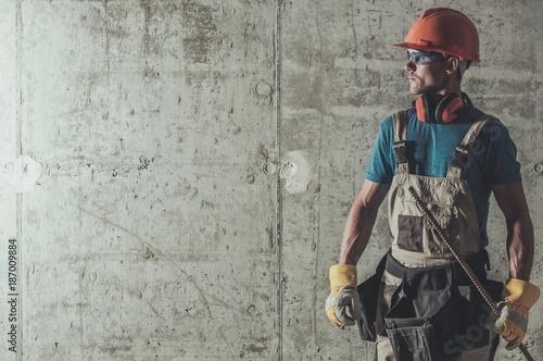 Contractor Job Concept Tapéta, Fotótapéta