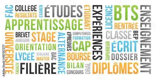 Foto  Diplôme, Études et Examen - Nuage de Mots