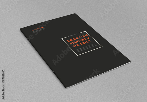 minimal brochure layout  buy this stock template and