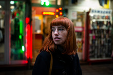 Portrait Of A Young Redhead Wo...