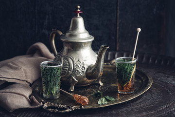 Drink: Moroccan green tea with mint and brown sugar