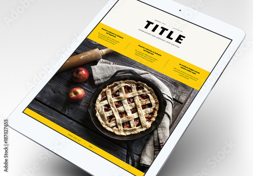 Foodie Cookbook EBook Layout Buy This Stock Template And Explore - Ebook cookbook template