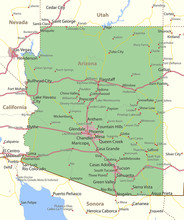 Arizona-US-States-VectorMap-A