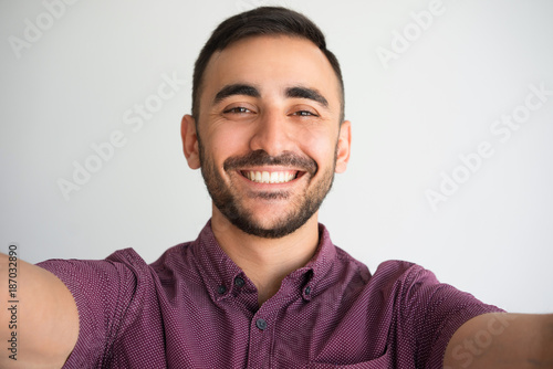 Happy Handsome Man Taking Selfie Photo Slika na platnu
