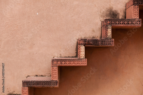 Sandstone Steps At Fatehpur Sikri Poster