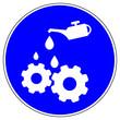canvas print picture - shas535 SignHealthAndSafety shas - German / Gebotszeichen: Ölen Sie diese Maschine nach Gebrauch / Instandhaltung - Wartung - english / mandatory action sign: do oil this machine after use - g5788