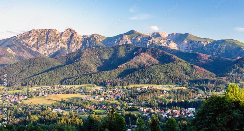 Fototapety, obrazy: Inspiring Mountains Landscape Panorama, beautiful summer day in Tatras, Poland