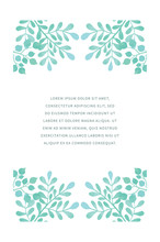 Floral Romantic Vector Invitation/holiday/thank You Card Template