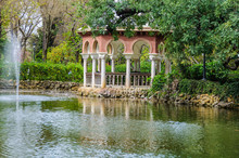 Small Pond In Maria Luisa Park...