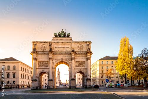 Keuken foto achterwand Europa München, Siegestor, Triumphbogen,