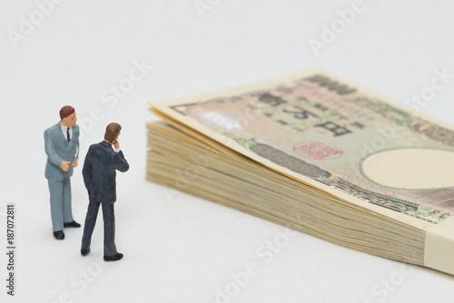 Obraz お金とビジネスマン - fototapety do salonu