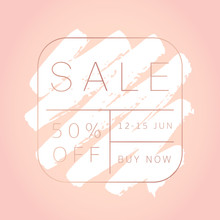 Sale Banner Template. Paint Te...