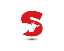 S Letter Bull Logo