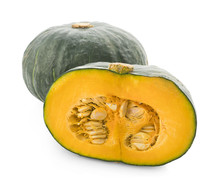 Japanese Pumpkin On White Back...