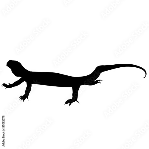 Fotomural Monitor lizard Silhouette Vector Graphics