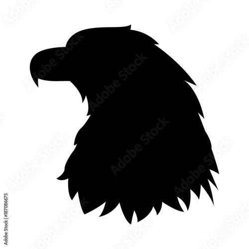 Fototapeta premium głowa orła wektor ilustracja czarna sylwetka profil