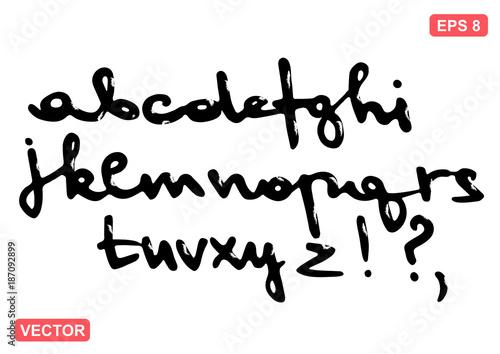 The font alphabet vector set  Handwritten lowercase letters