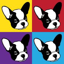 Dog Vector French Bulldog Icon Logo Face Head Pop Art Cartoon Illustration