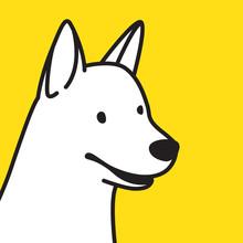 Dog Vector Icon Logo Hound Bulldog Cartoon Illustration Pop Art Doodle