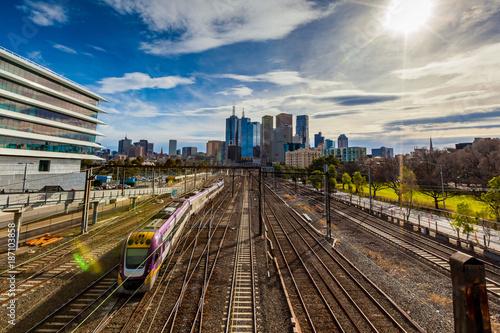 Melbourne train 1 © James Ser