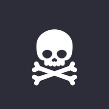 Danger Icon Skull And Bones Ve...