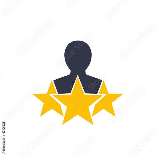 Fotografía  customer satisfaction icon on white