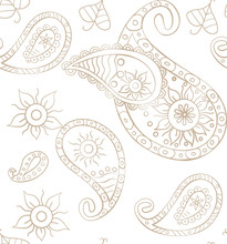 Seamless Paisley Background Fo...