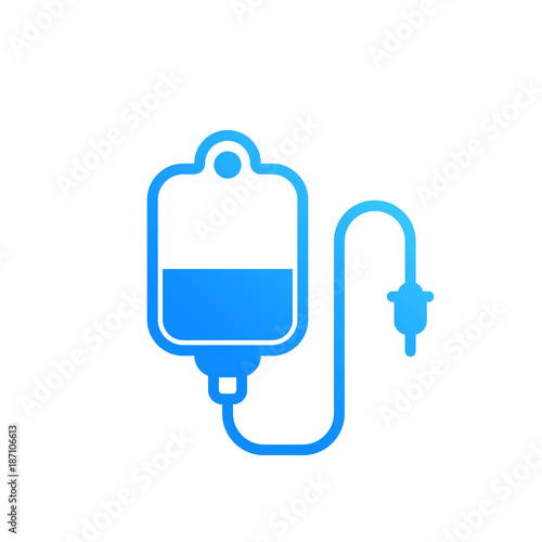 Photographie  iv bag vector icon on white