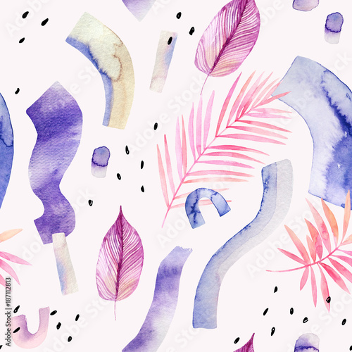 Poster Aquarel Natuur Abstract creative background. Modern watercolor illustration