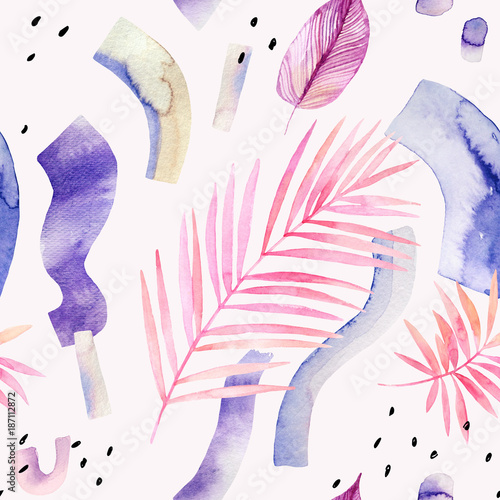 Abstract creative background. Modern watercolor illustration