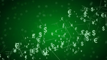 Abstract Network With Currency...