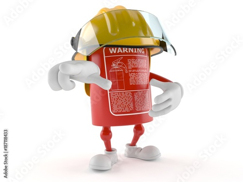 Poster Robots Fire extinguisher character