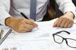 Businessman Summary report plan finance
