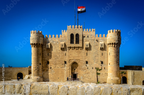 Tablou Canvas The Citadel of Qaitbay In Alexandria, Egypt