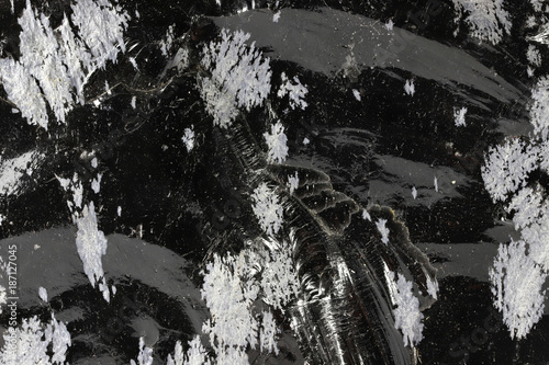 Fotografie, Obraz  snowflake obsidian for background use