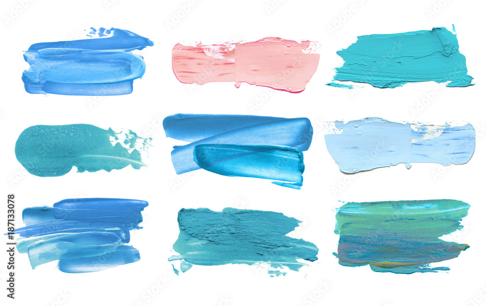 Fototapety, obrazy: Abstract acrylic color brush stroke. Isolated.