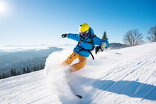 Shot Of A Professional Skier R...