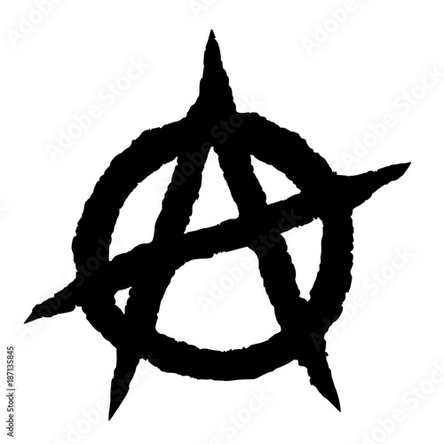 Anarchy symbol black Canvas Print
