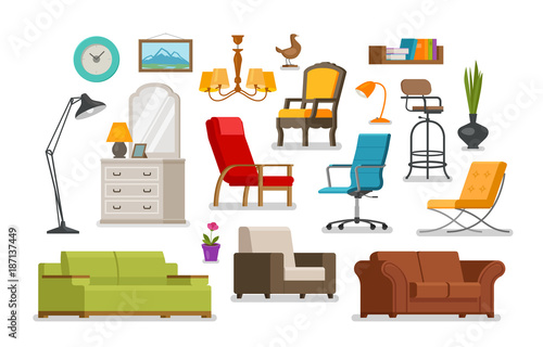 Cuadros en Lienzo  Interior, furnishings, furniture store concept