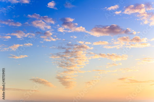 Tuinposter Canarische Eilanden Clouds and blue sky, Canary Islands, Spain