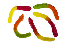 Colorful Fruity Gummy Worm Can...