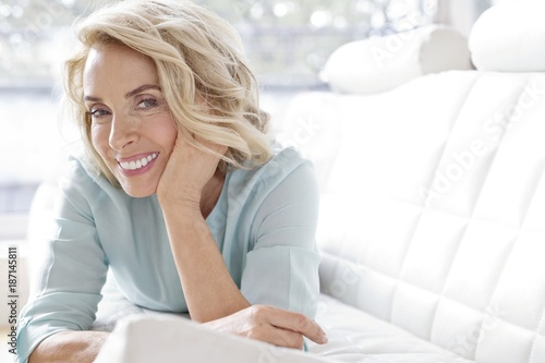 Mature woman smiling and