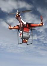 Emergency Drone Flying Against...